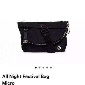 Lululemon all night festival bag